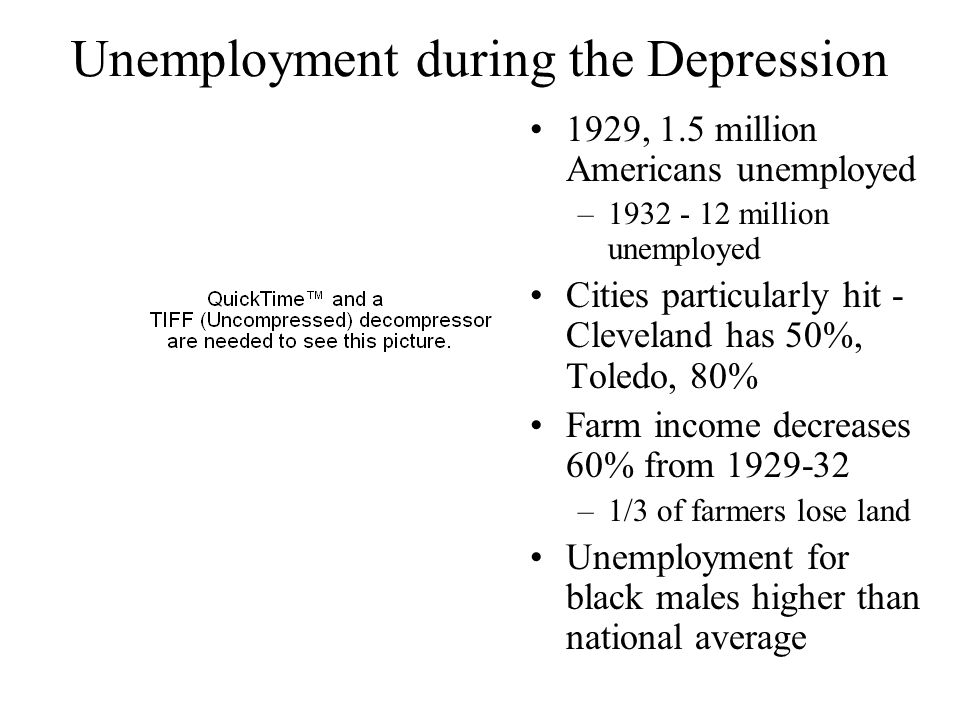 Unemployment during the Depression