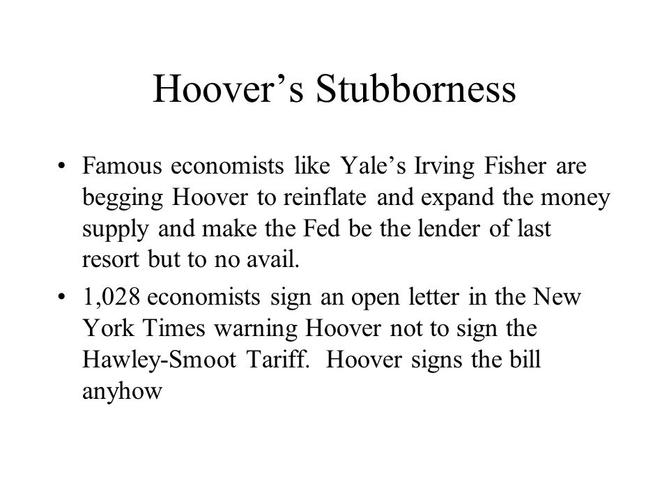 Hoover's Stubborness