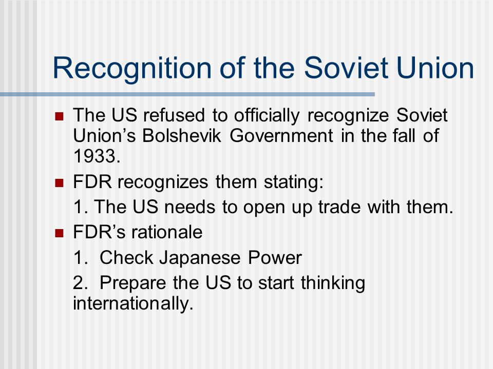 Recognition of the Soviet Union