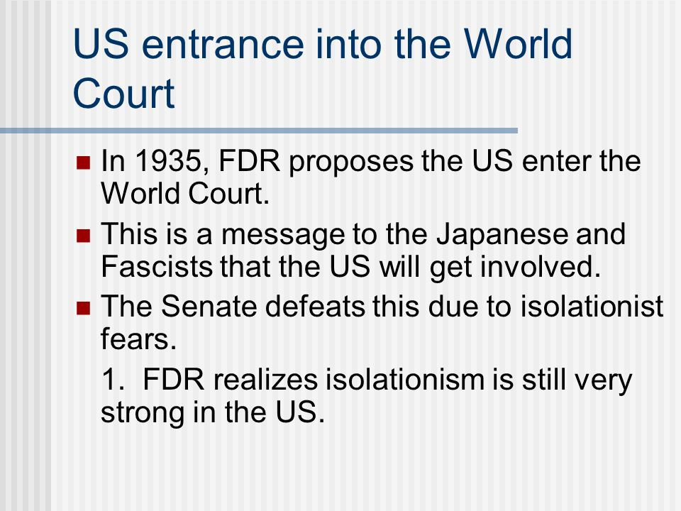 US entrance into the World Court