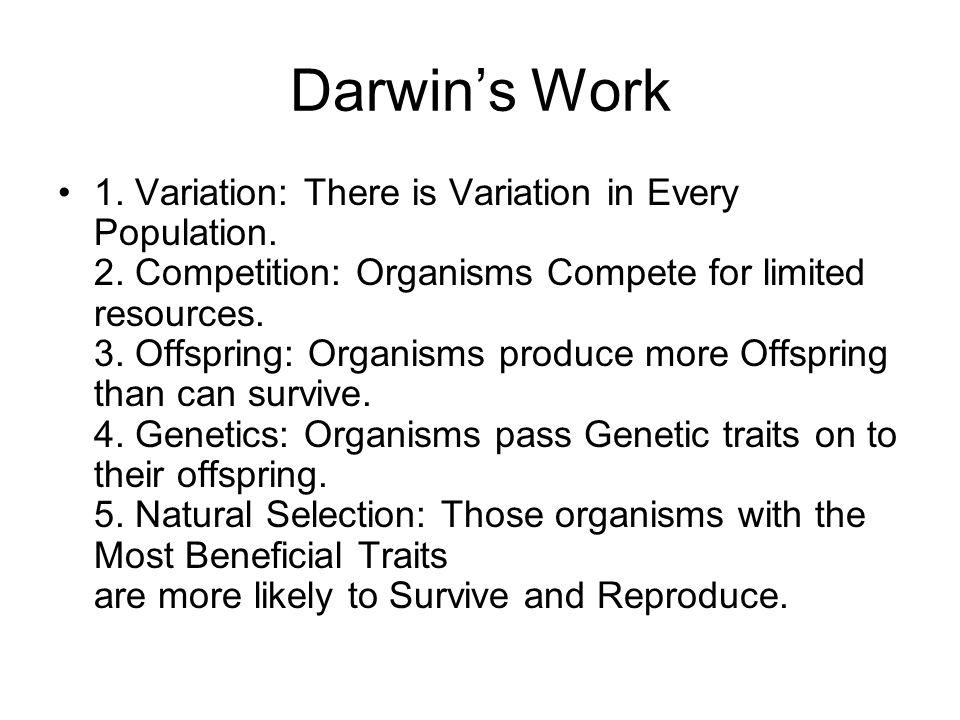 Darwin's Work