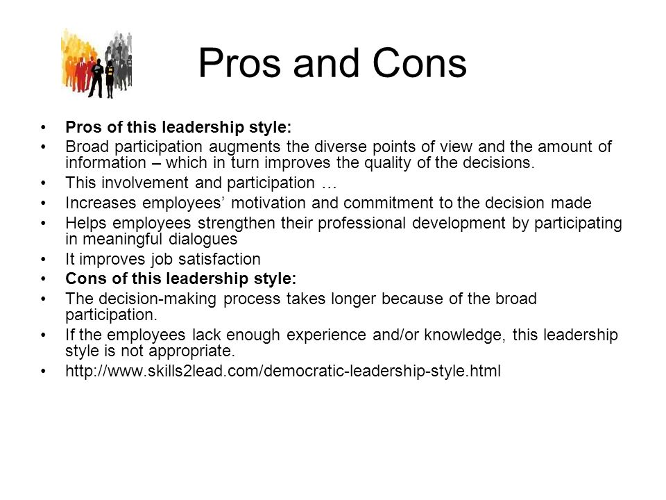 pros and cons of leadership development Thought leadership development: pros and cons of academic partnerships for research often, when developing a thought leadership strategy, a survey will be suggested as a tactic.