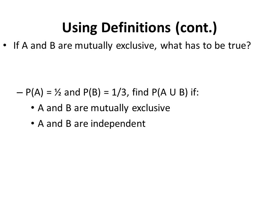 Using Definitions (cont.)