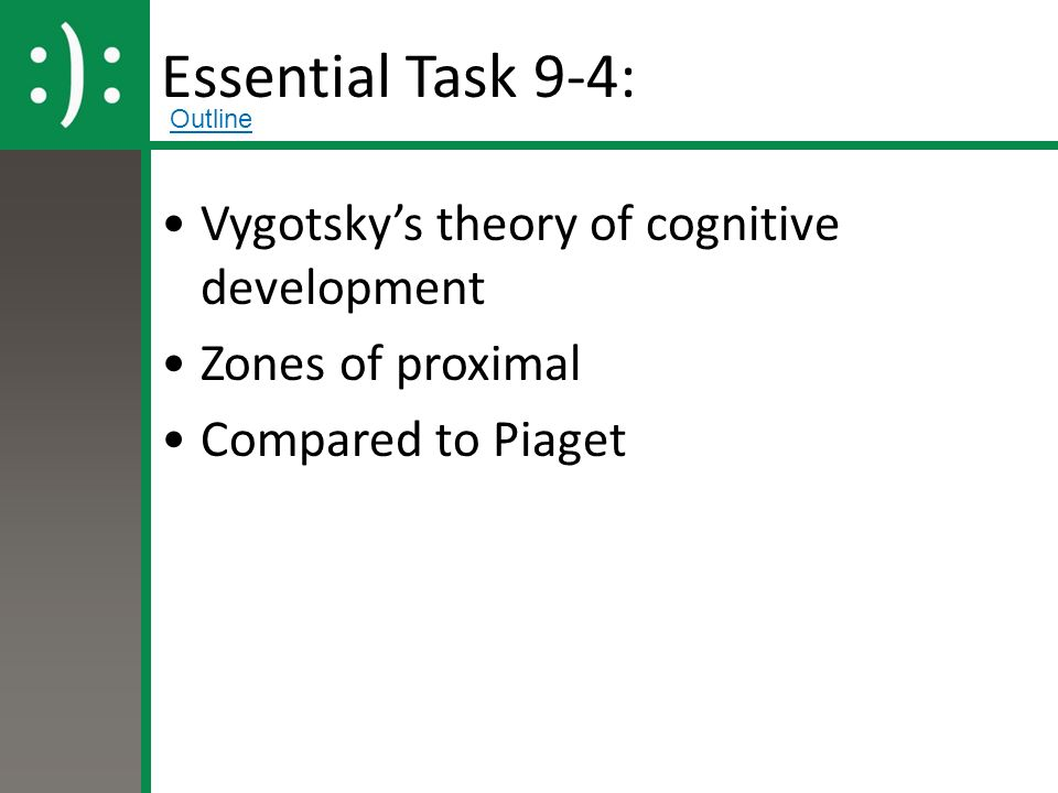 cognitive theory detailed outline Psychologist jean piaget suggested that children go through four key stages of cognitive development learn more about his influential theory.