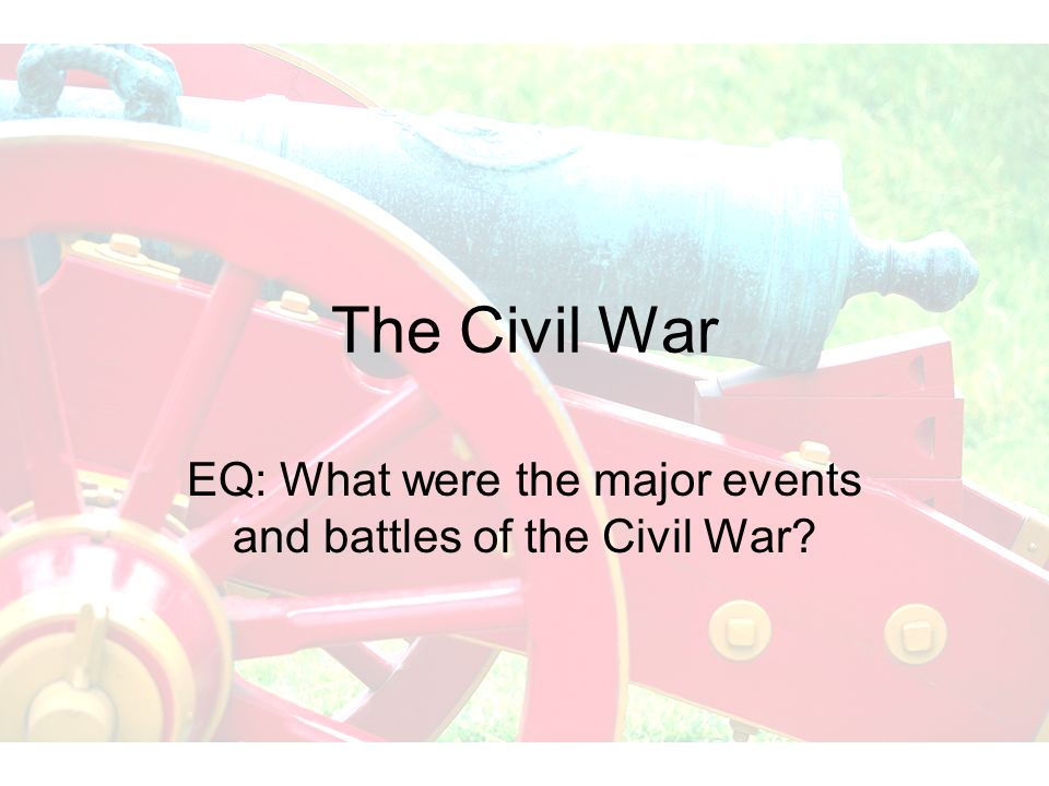 EQ: What were the major events and battles of the Civil War
