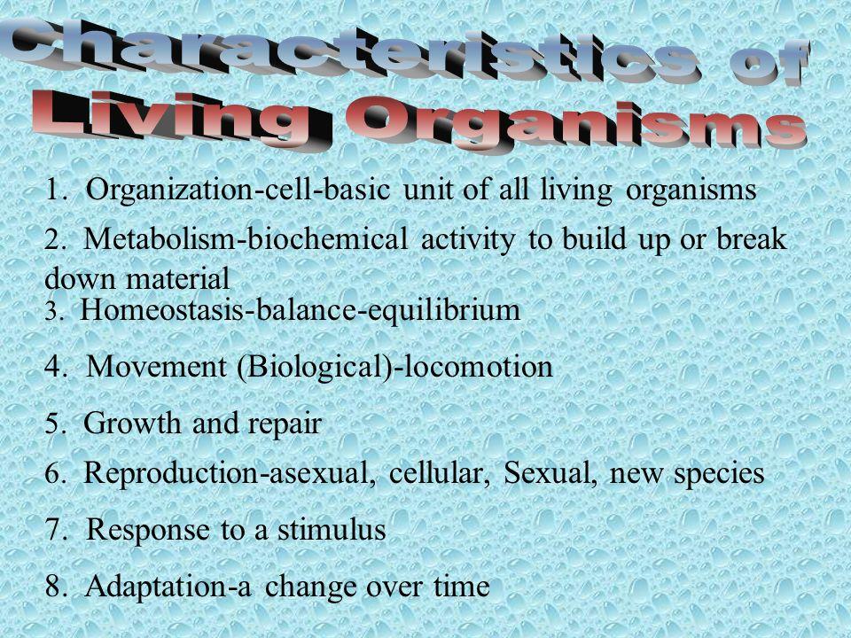 Characteristics of Living Organisms
