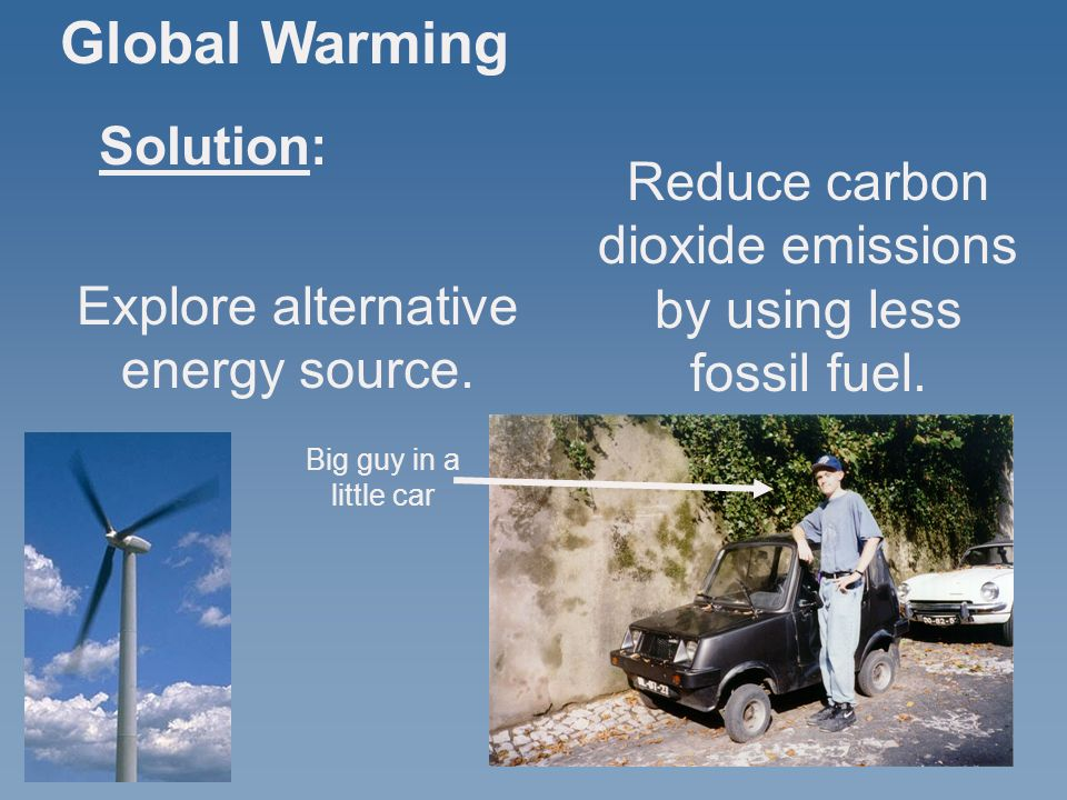an analysis of the possible solutions to global warming The economics of global warming concerns the economic aspects of global warming this can inform policies that governments might consider in response a number of factors make this a difficult problem from both economic and political perspectives: it is a long-term, intergenerational problem.