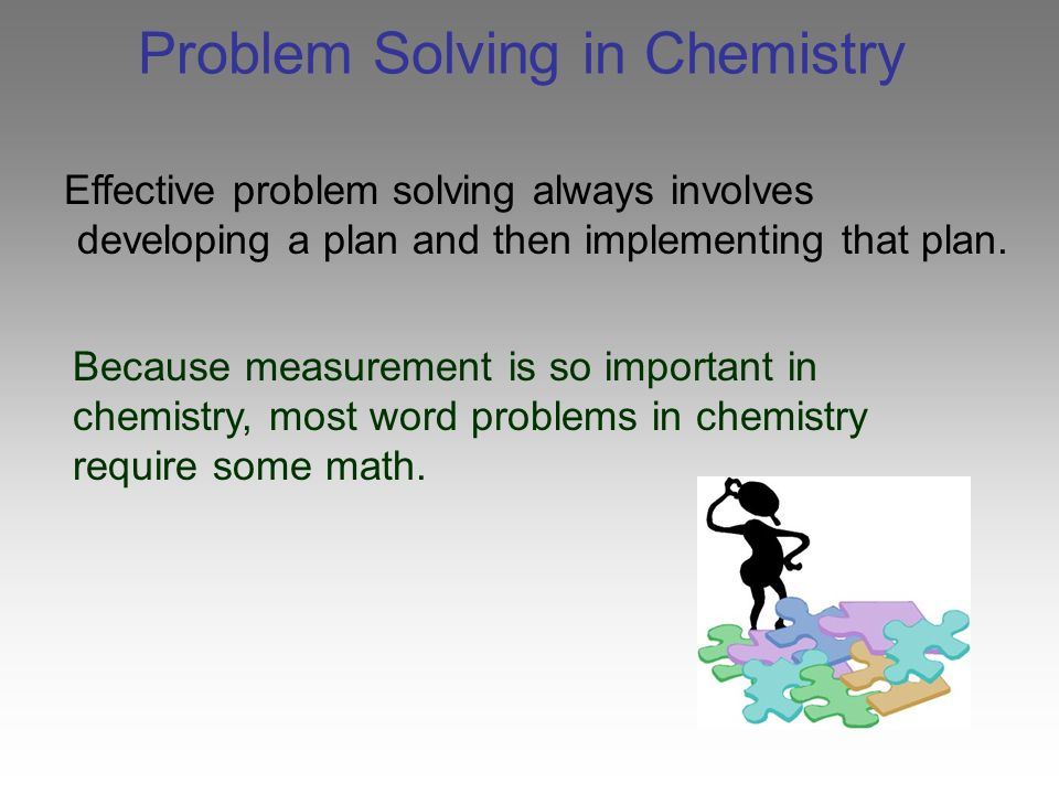 problem solving chemistry essay Below there are a list of problems (i-iii) and a list of analytical techniques (a-g) for each problem (i-iii) find the best technique (a-g) to solve it in order to find the best solution you need to take into account the required selectivity, sensitivity, accuracy, throughput, portability, and the cost of the analysis.