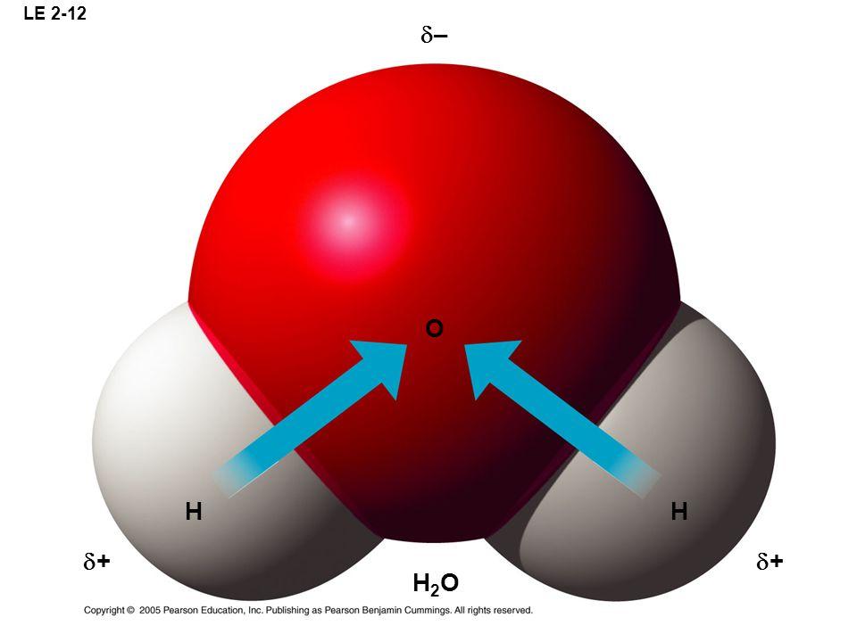 LE 2-12 – O H H + + H2O