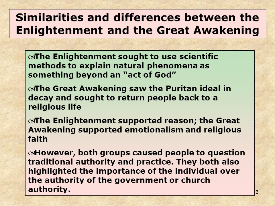 the enlightenment and the great awakening essay Check out our top free essays on the difference between the enlightenment and the great awakening to help you write your own essay.