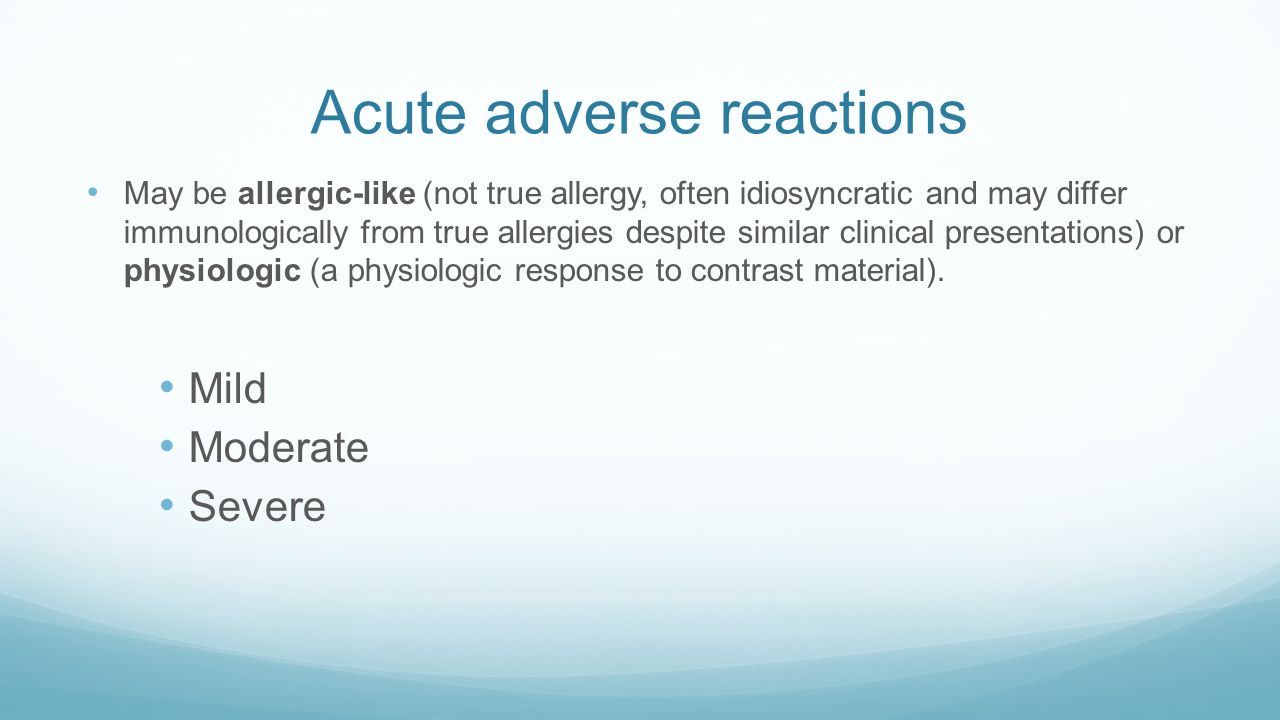 acr guidelines premedication contrast allergy