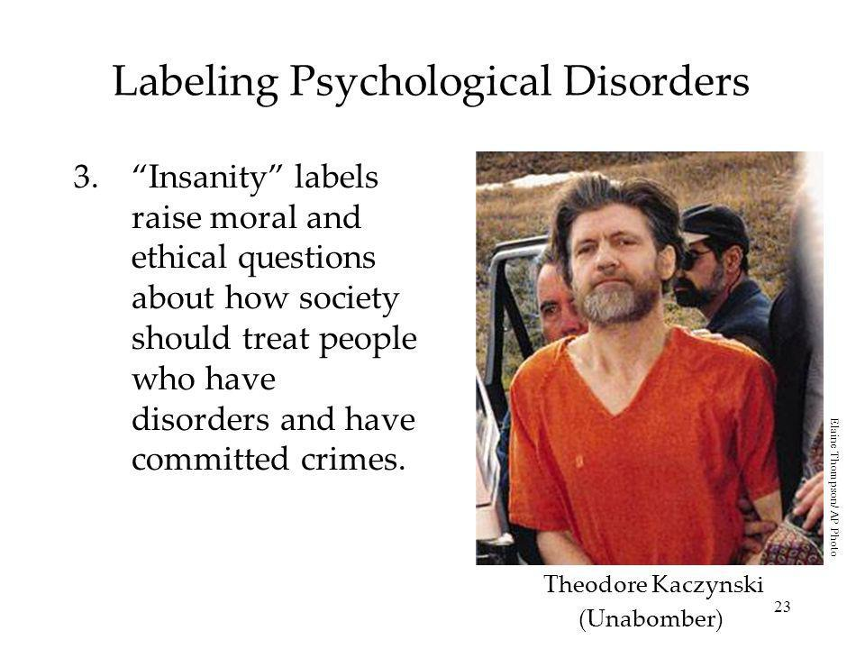 Labeling Psychological Disorders