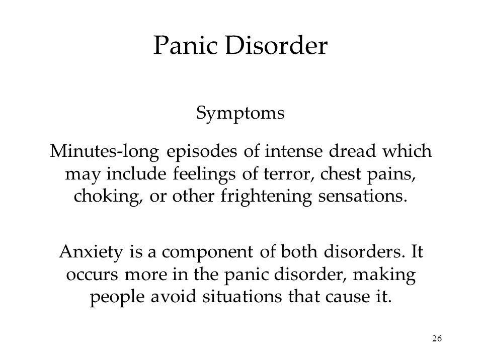 Panic Disorder Symptoms