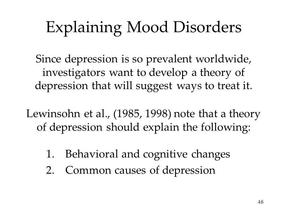 Explaining Mood Disorders