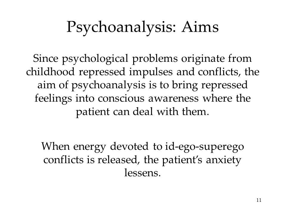 Psychoanalysis: Aims