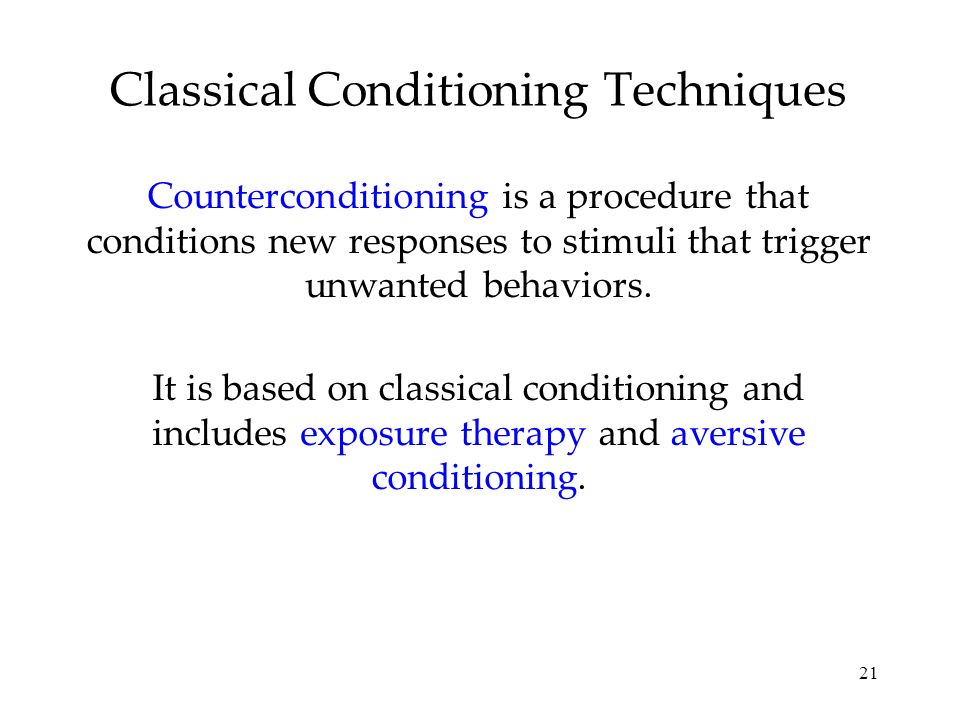 Classical Conditioning Techniques
