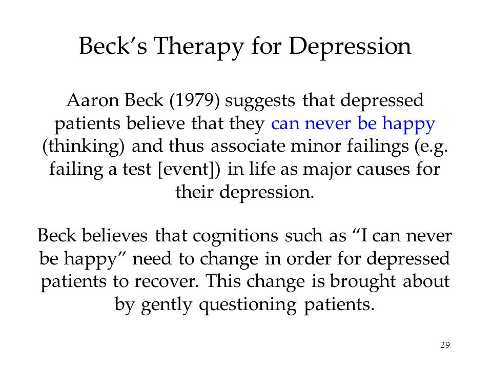 Beck's Therapy for Depression