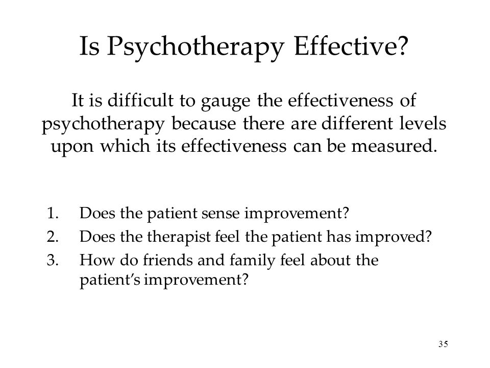 Is Psychotherapy Effective