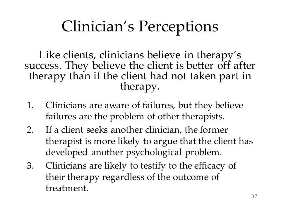 Clinician's Perceptions