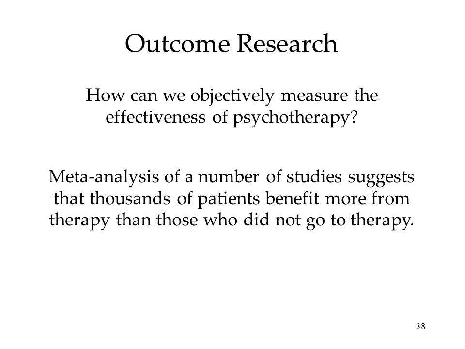 How can we objectively measure the effectiveness of psychotherapy