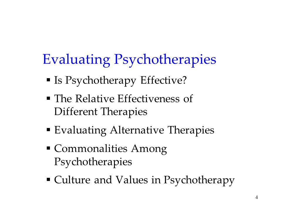 Evaluating Psychotherapies