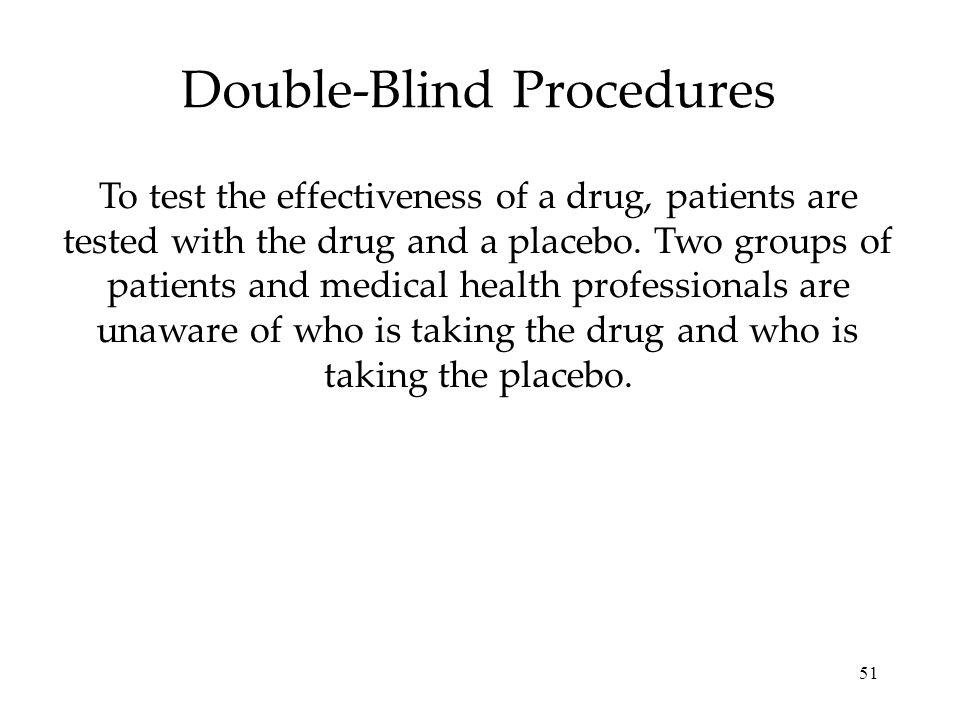 Double-Blind Procedures