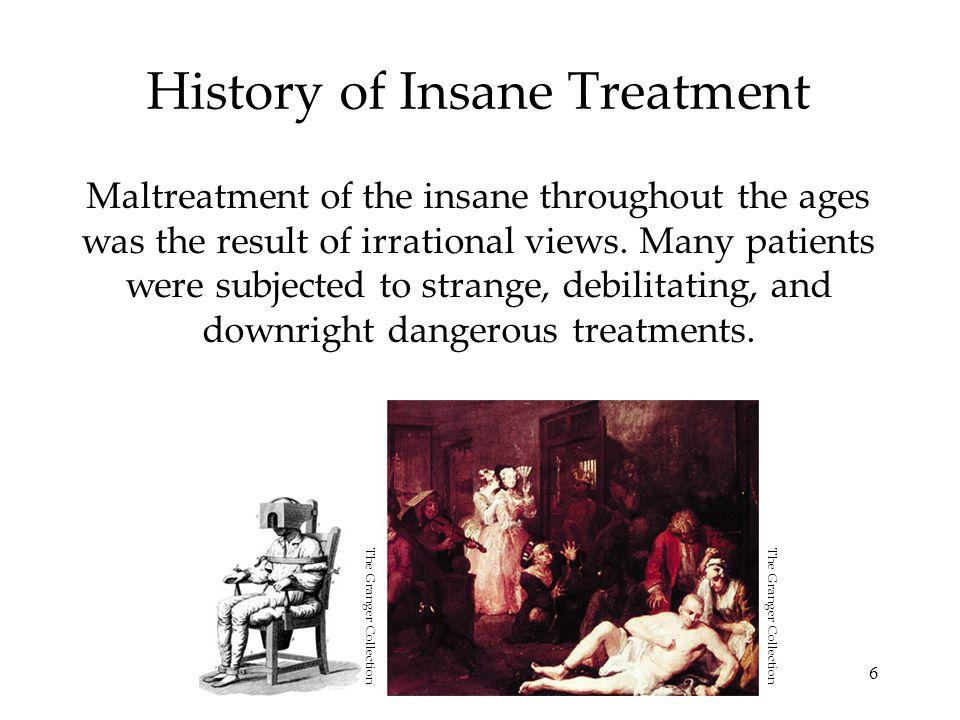 History of Insane Treatment