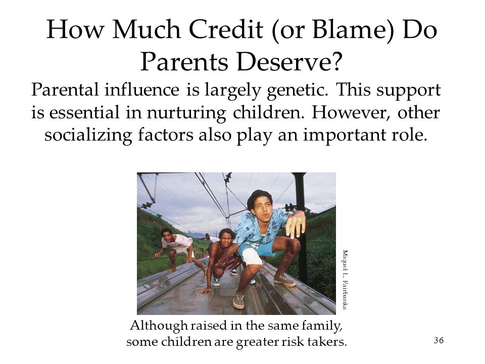 How Much Credit (or Blame) Do Parents Deserve