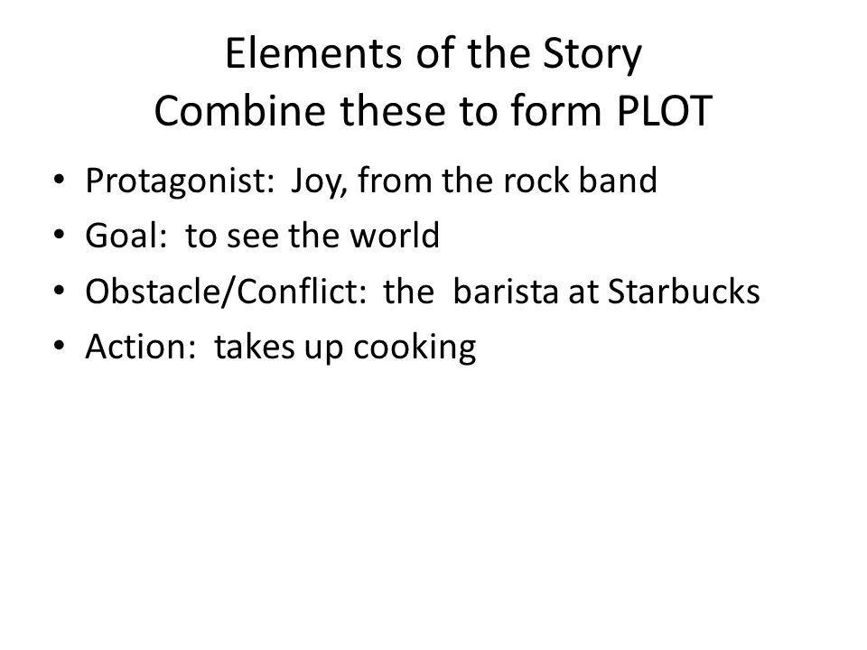 Elements of the Story Combine these to form PLOT