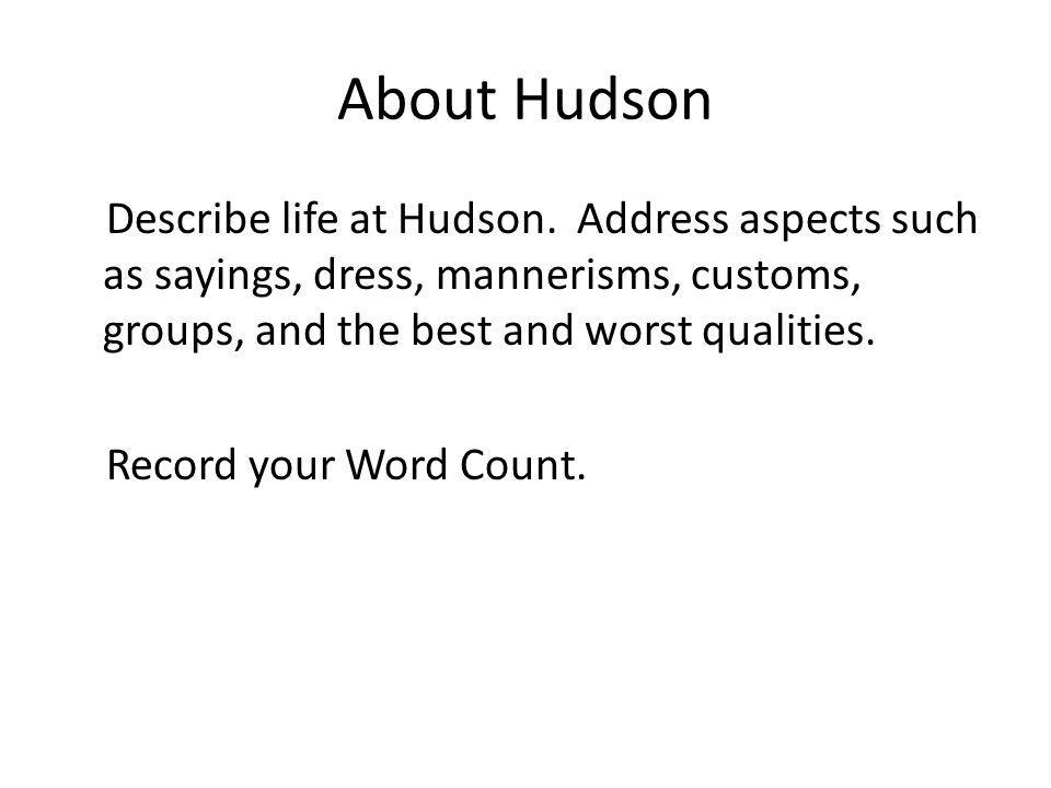About Hudson