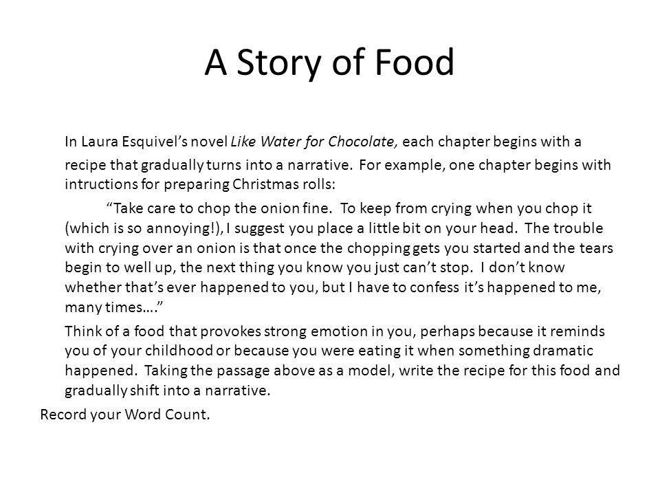 A Story of Food