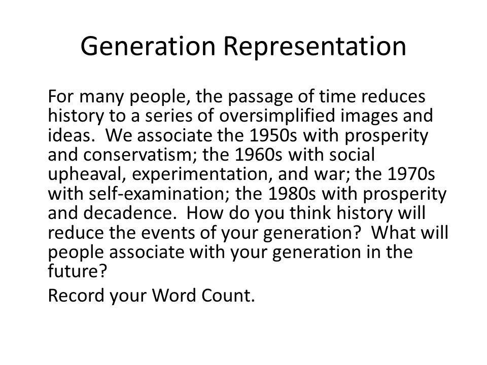 Generation Representation