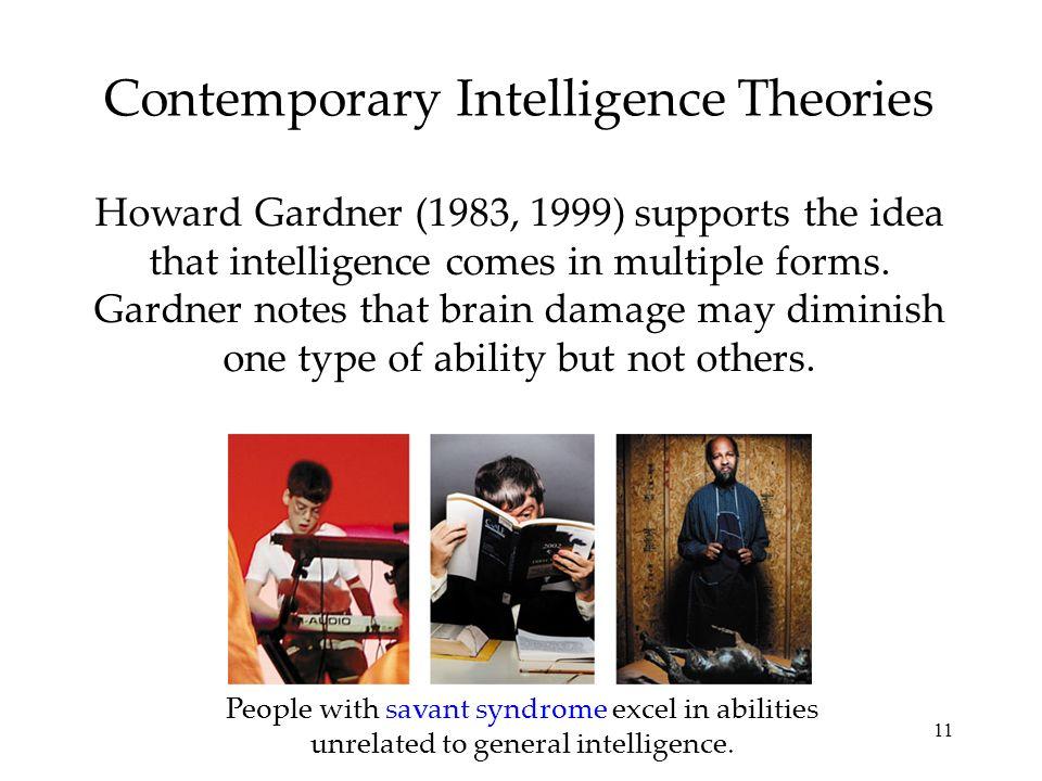 Contemporary Intelligence Theories