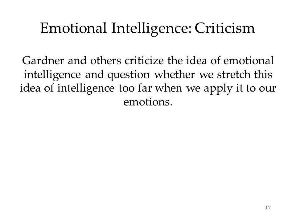 Emotional Intelligence: Criticism