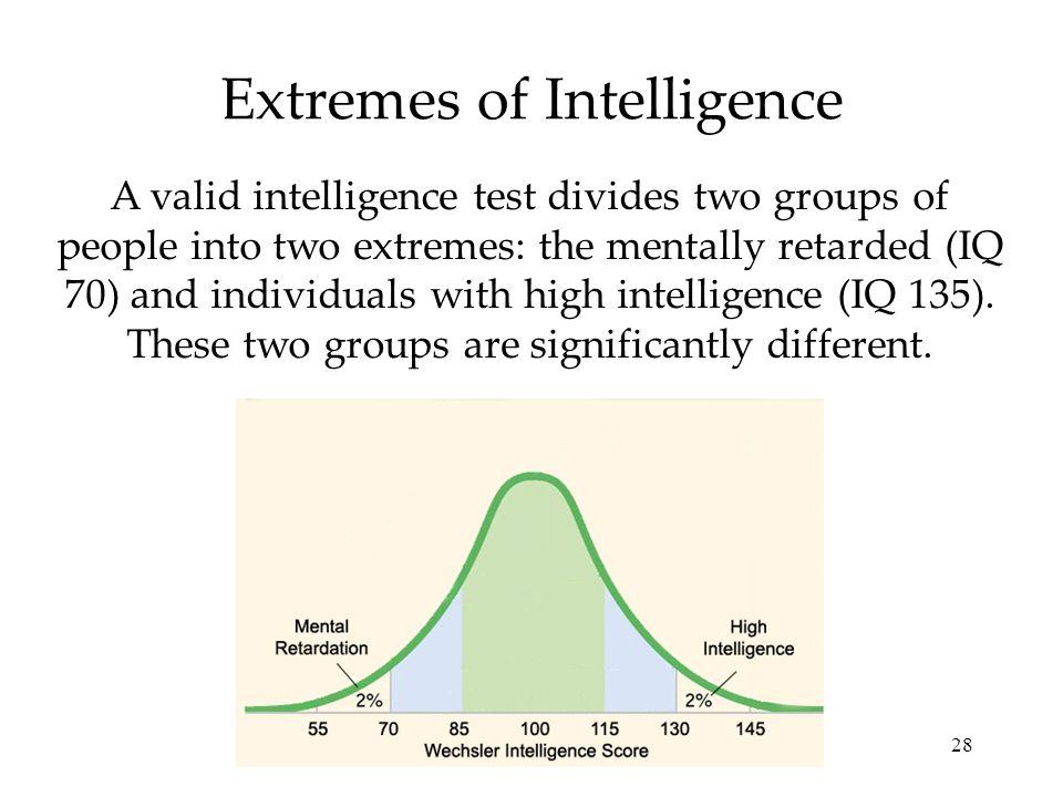 Extremes of Intelligence