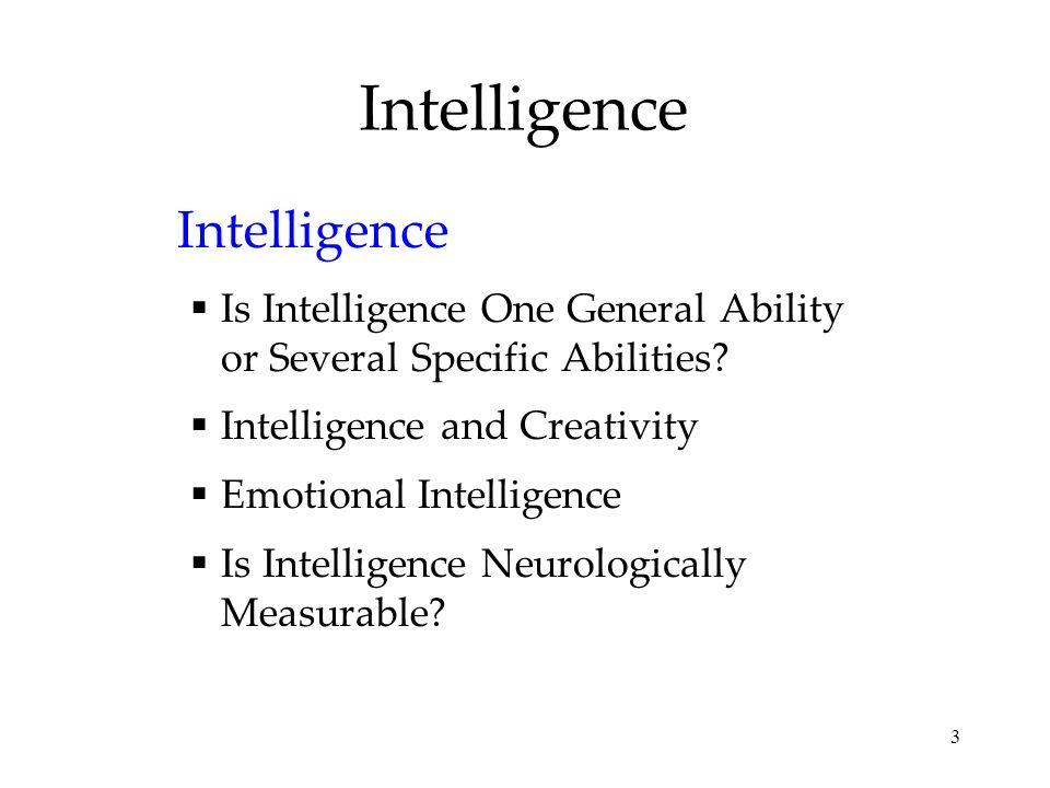 Intelligence Intelligence