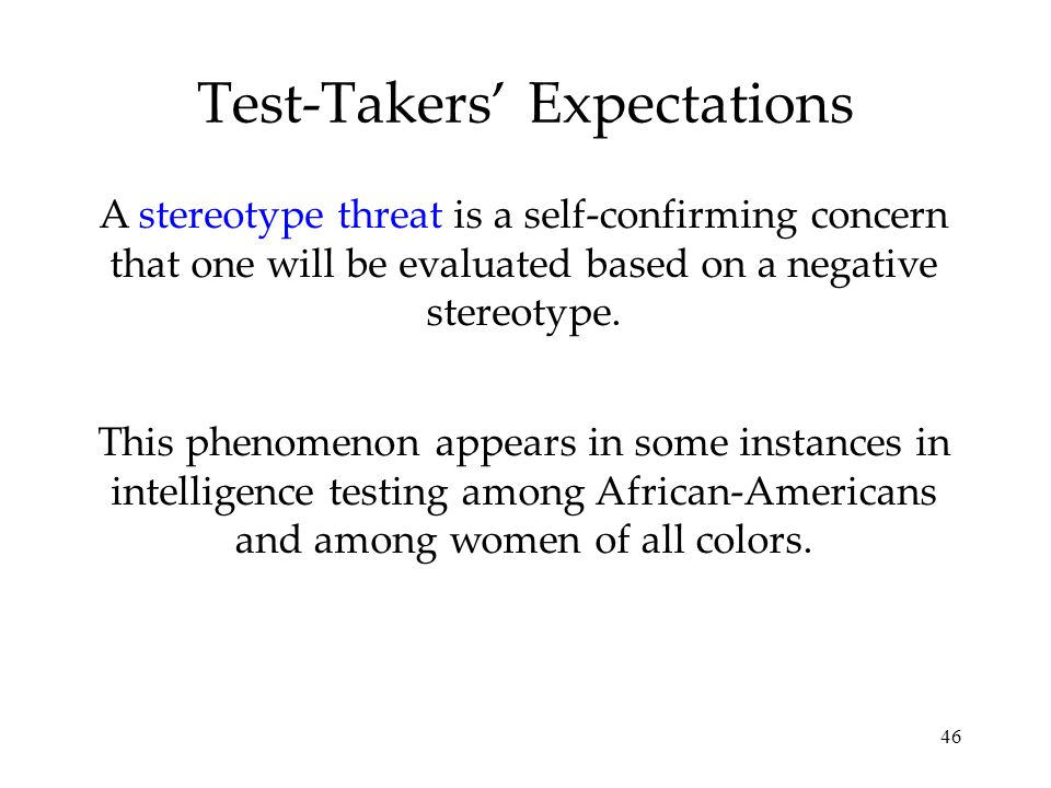 Test-Takers' Expectations