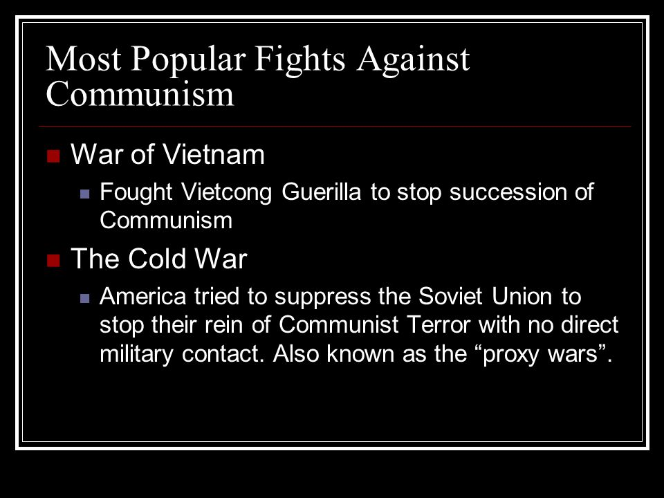 Most Popular Fights Against Communism