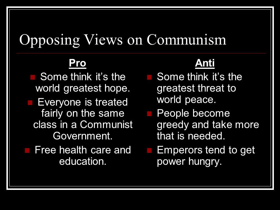 Opposing Views on Communism
