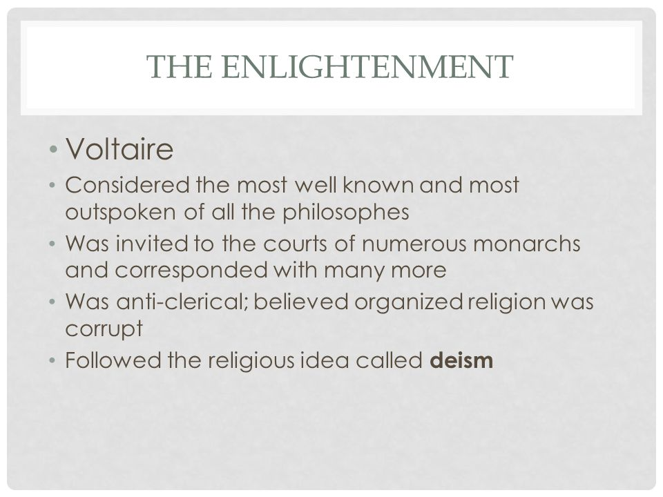 an introduction to the enlightenment and the role of the philosophes The age of enlightenment was revolutionary period for mankindfresh, new ideas emerged that sought to better both the individual's understanding of the world around him, and consequently, civilisation as a wholethe philosophes, a wave of incredibly influential thinkers that rose to prominence during this 18th century epoch, believed that a fully functional, lucrative society was attainable.