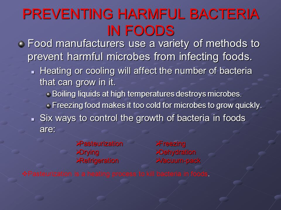 how to kill of bad bacteria with foods