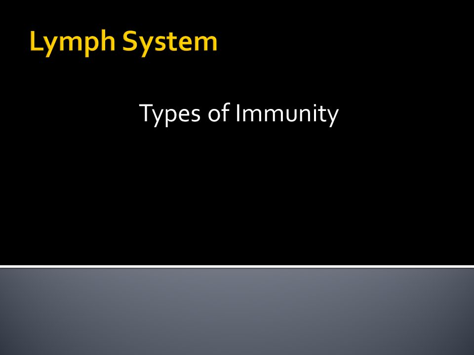 Lymph System Types of Immunity. - ppt video online download