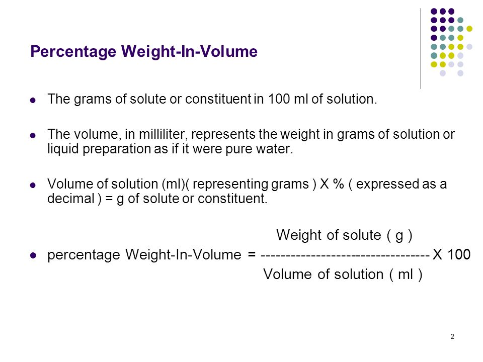 how to solve for volume of solute percent by volume