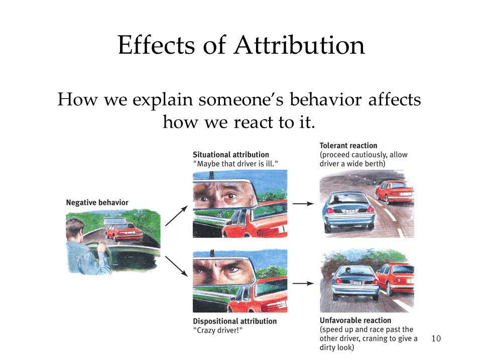 Effects of Attribution