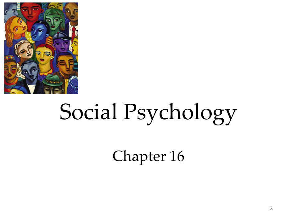 Social Psychology Chapter 16