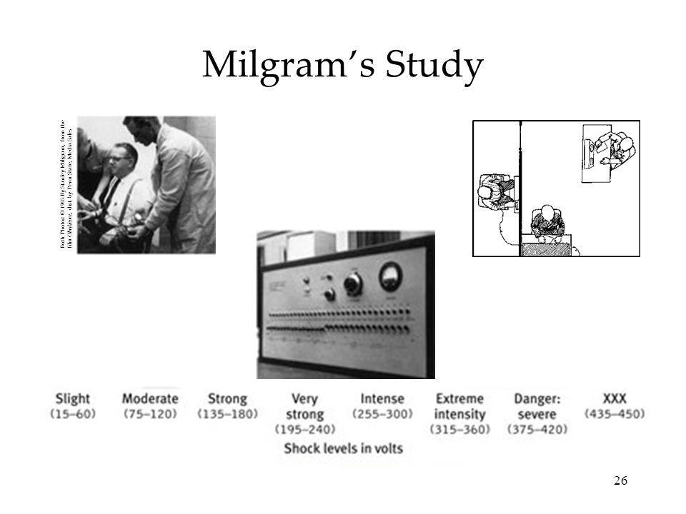 Milgram's Study Both Photos: © 1965 By Stanley Miligram, from the