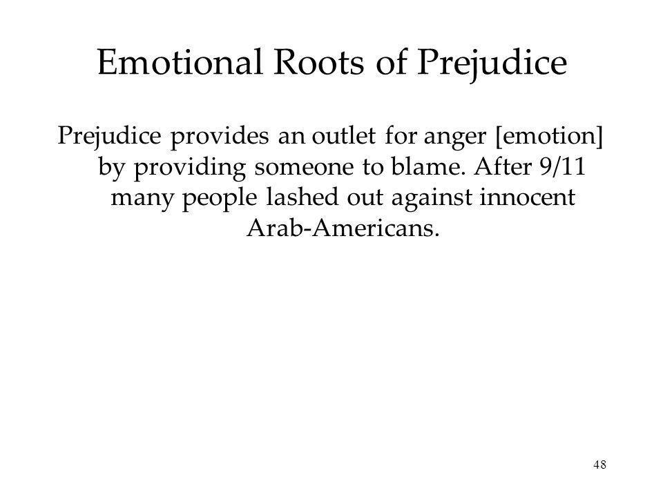 Emotional Roots of Prejudice