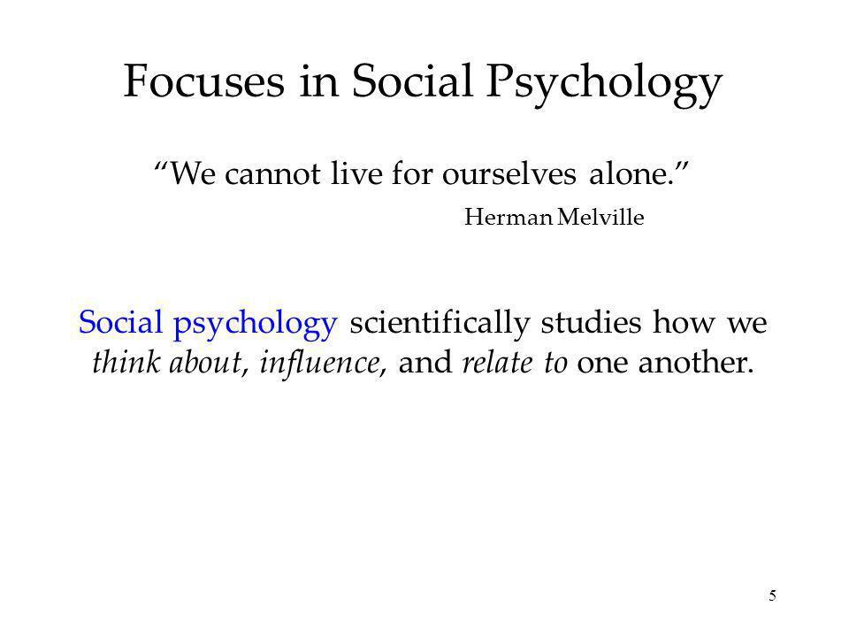 Focuses in Social Psychology