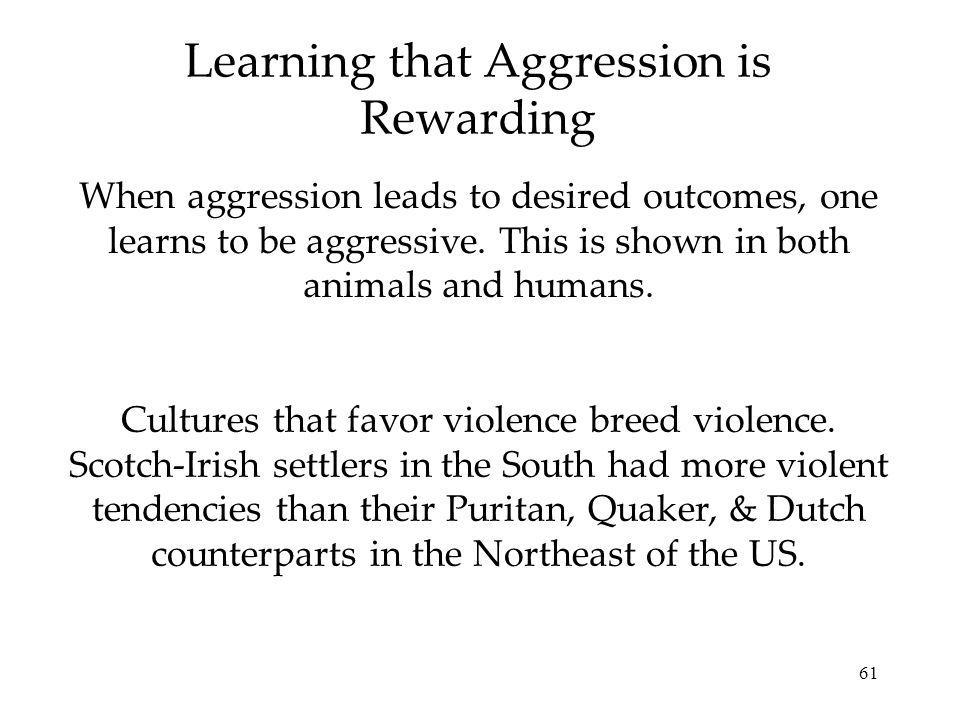 Learning that Aggression is Rewarding