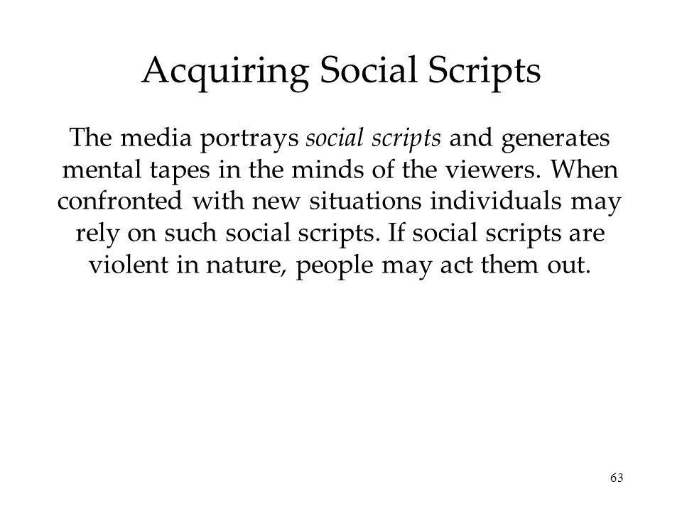 Acquiring Social Scripts